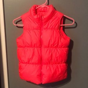 Bright Pink Old Navy Puffer Vest